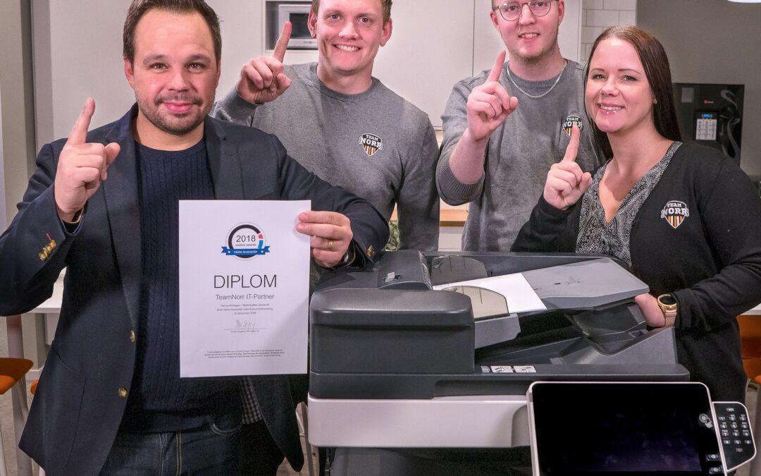 TeamNorr har högst kundnöjdhet i Västerbotten